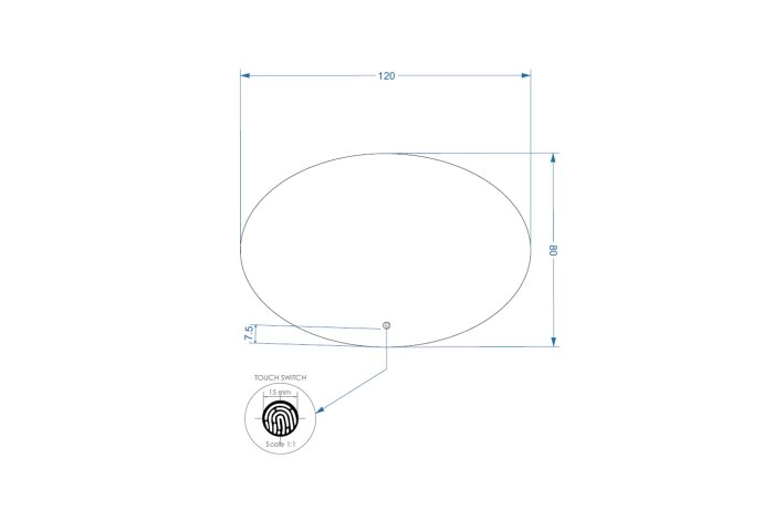 Badkamerspiegel LED BWS Spark Ovale 75x100 cm