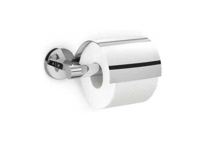 Toiletrolhouder Zack Scala 18 cm met Klep RVS