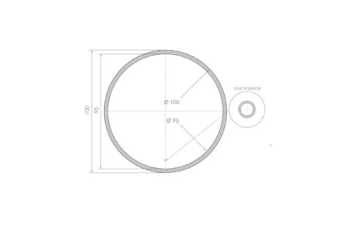 Ronde Badkamerspiegel LED BWS Spark Edge 100 cm