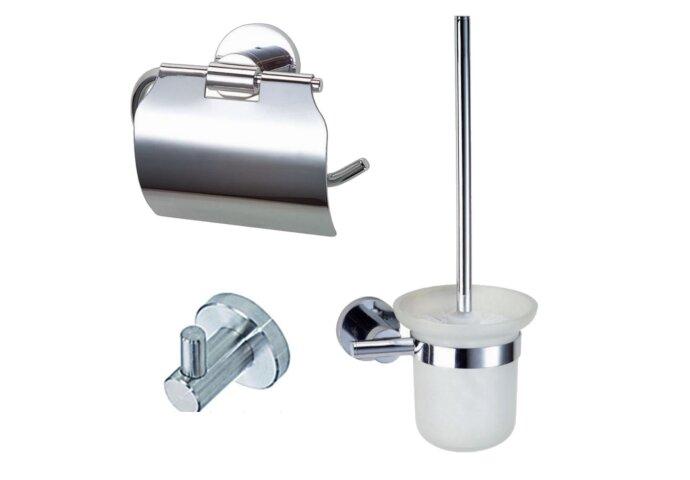 Complete toiletset Best Design Rome Metaal/Glas | Tegeldepot.nl
