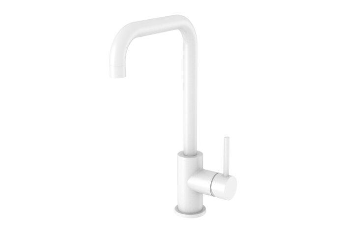 Keukenmengkraan Best Design White Uitloop Gebogen 31.7 cm 1-hendel Mat Wit