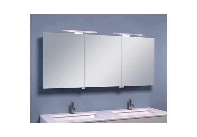 BWS LED Spiegelkast Luxe Aluminium 140x60x14 cm