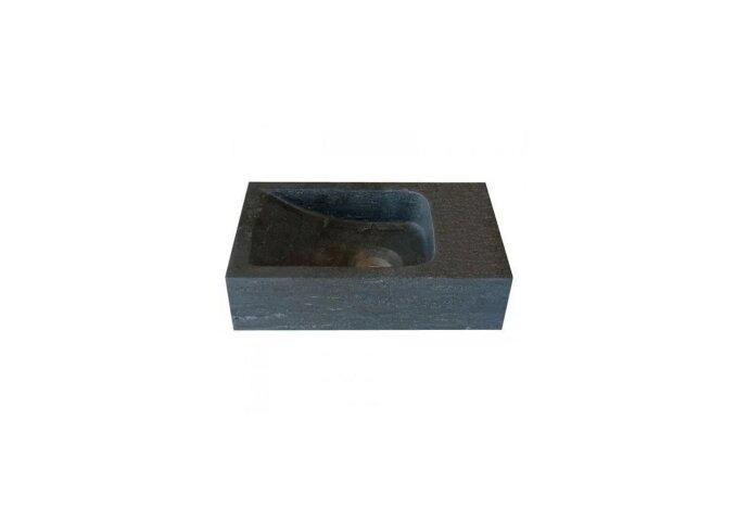 Hardstenen fontein Mini rechts zonder kraangat 18x30x8 cm (Fonteinen)