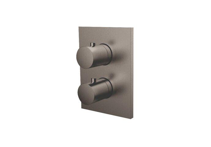 Inbouw Douchekraan 3-Weg Herzbach Design IX Thermostatisch PVD-Coating Zwart