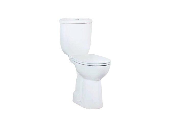 Toiletpot Staand Verhoogd +5.5 cm Wit Compleet (AO)