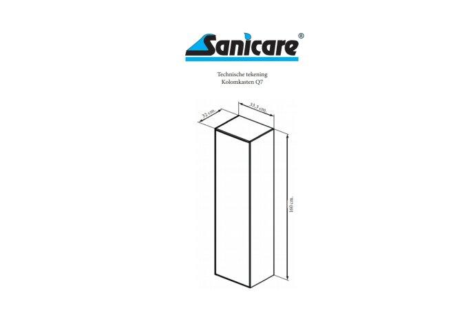Kolomkast Sanicare 1 Soft-Closing Deur Greeploos 160x33,5x32 cm Schots-Eiken