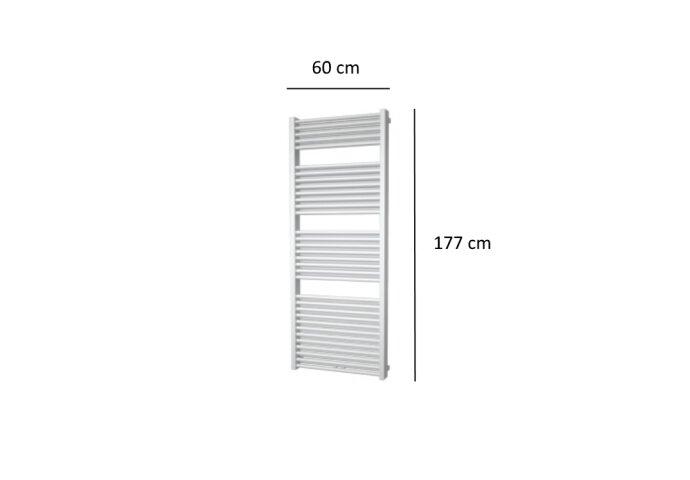 Designradiator Plieger Imola 1359 Watt Middenaansluiting 177x60 cm Wit