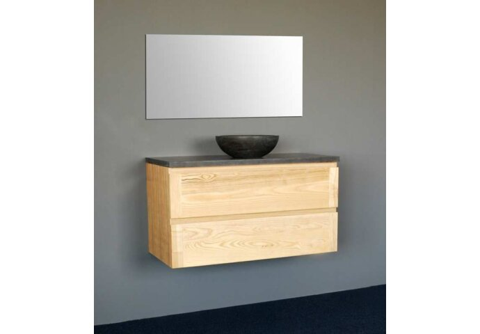 Badkamermeubelset Sanilux Wood Dynasty 100x47x50 cm Massief Eikenhout