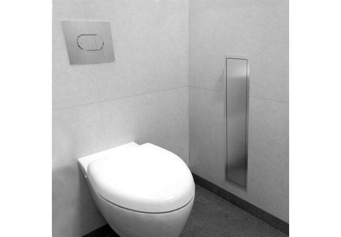 Inbouw Toiletborstelhouder LoooX Closed met Reserverolhouder RVS