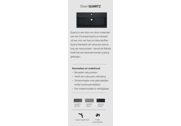 INK Versus Fonteinpack Quartz Fontein Beton Grijs Inclusief Kraan Rechts Sifon En Plug 36x18x9 cm