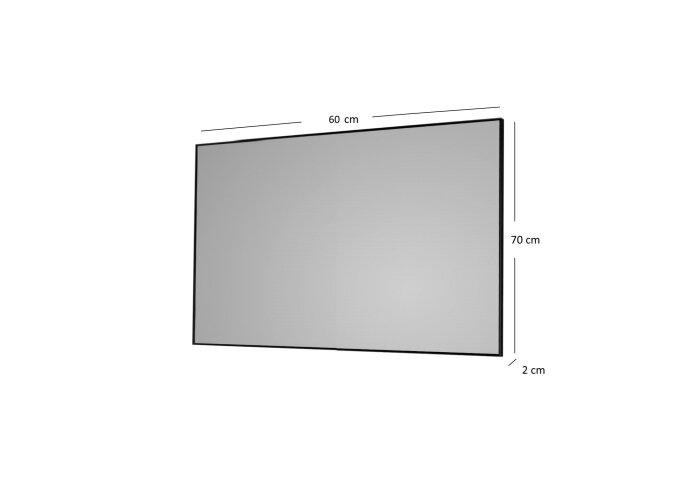 Badkamerspiegel Sanicare Q-Mirrors 60x70x2cm Zwart
