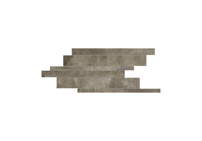 Steenstrips Matières de Rex 21x40 cm Gris Strutturata (Doosinhoud 0.42 m2)