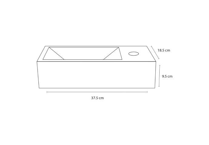 Fontein Differnz Helios 37,5x18,5x9,5 cm Marmer