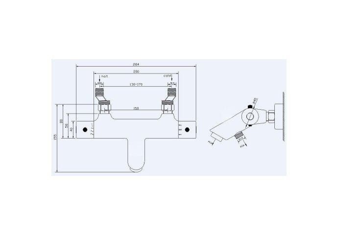 BWS Badkraan Janero Thermostatische Mat Zwart