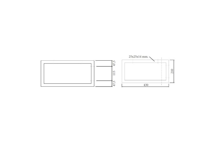 Wastafelbeugel Sanicare 21x43 cm Chroom (per stuk)