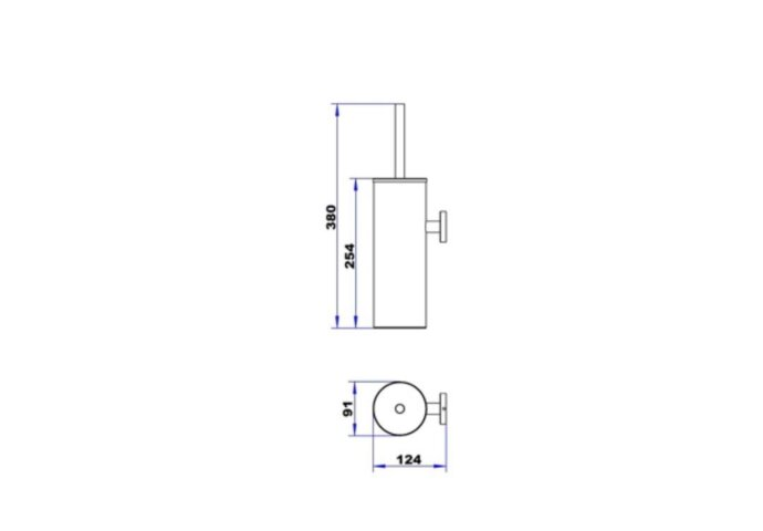 Toiletborstelhouder Plieger Vigo Wandbevestiging 38 cm RVS