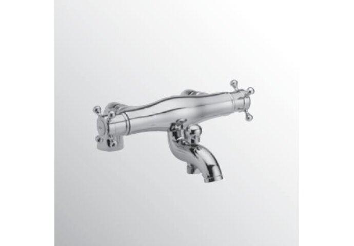 Huber Victorian Thermostatische Badkraan voor badrandmontage Chroom 252C.01H.CR
