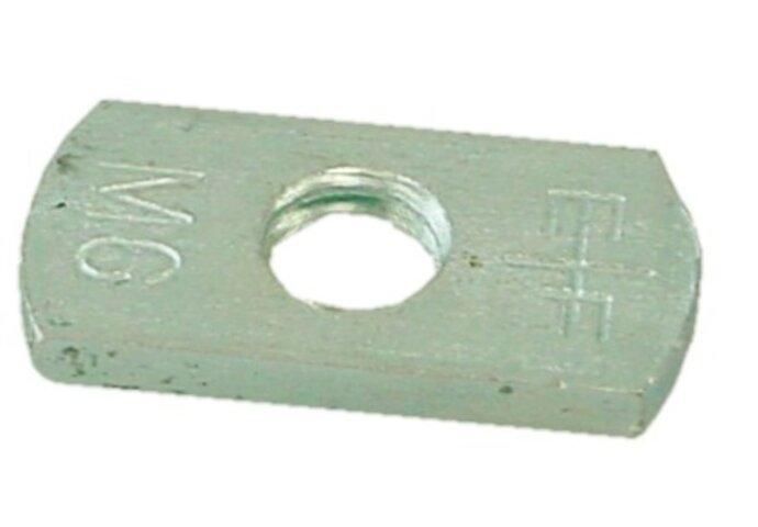 Losse vierkante moer M6 tbv clickzadels