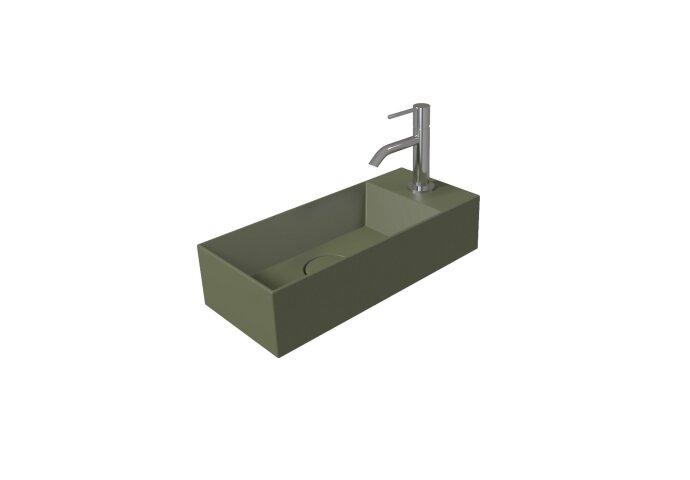 Fontein Salenzi Spy 45x20 cm Mat Legergroen (inclusief bijpassende waste)