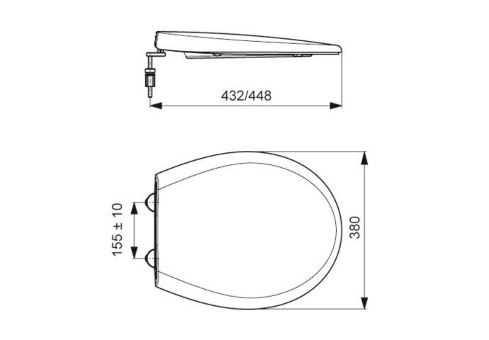Toiletzitting Plieger Met Deksel Softclose Type 2100 Wit
