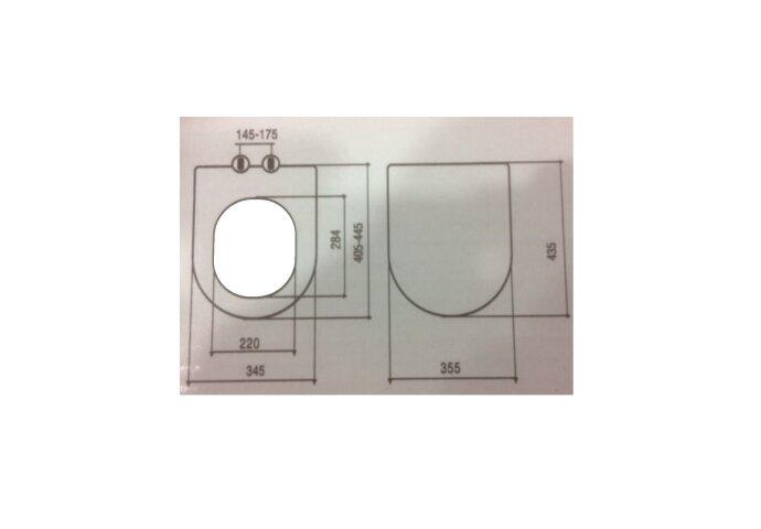 Toiletzitting Creavit AL0402 softclose  | Tegeldepot.nl