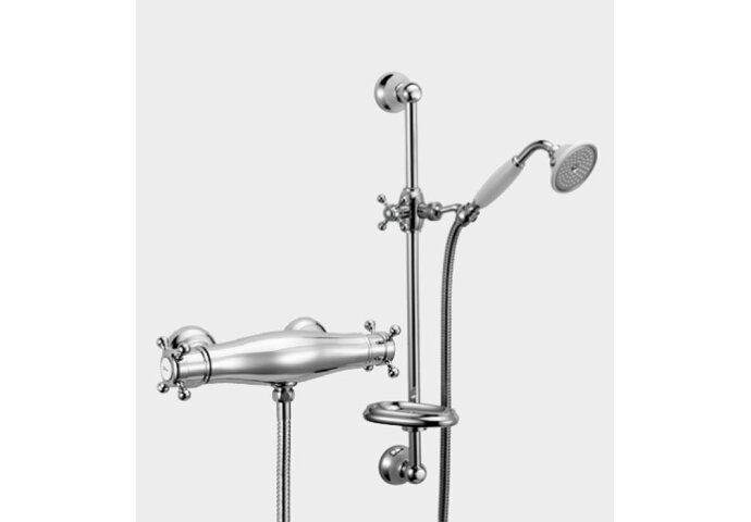 Huber Victorian Thermostatische Douchekraan met glijstangset VTS0101027 Brons