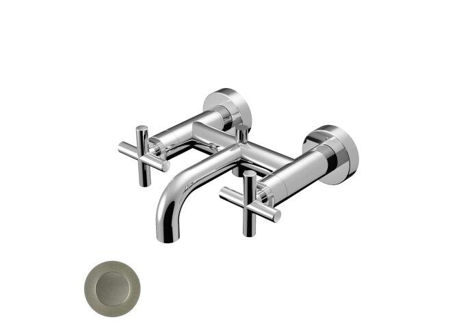 Badmengkraan Hotbath Chap Opbouw 2-kruisgreep Geborsteld Nikkel