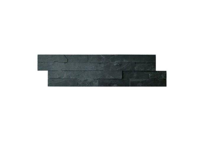 Wandtegel Schiste flatface stonepanel antraciet slate 15x60x2/3 (p/Stuk) (Wandtegels)