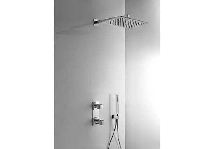 Tres Cuadro thermostatische inbouw doucheset met handdouche chroom 20217501