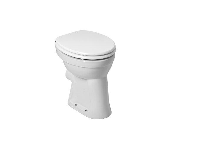 Toiletpot Wiesbaden Staand verhoogd +6 PK Wit | Tegeldepot.nl