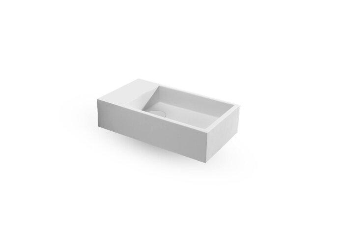 Fontein EH Design Salle 400x220x100 mm Solid Surface Mat Wit