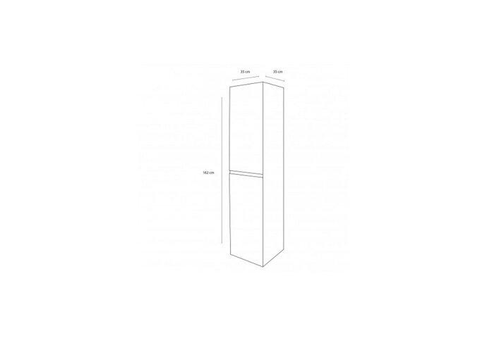 Badkamerkast Differnz Bolo 160x35x35 cm Licht Eiken (Flat pack)