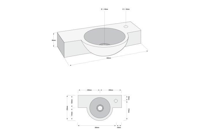 Basalt fonteinset Minako 40x23x8 cm