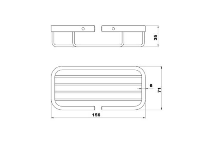 Zeepschaal Plieger Uni 15,5x7x3,5cm RVS