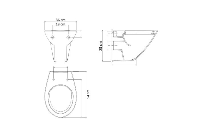 Wandcloset Sanilux Easy Flush Randloos Diepspoel (incl. zitting) 5006