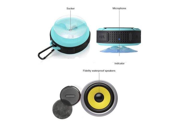 Speaker/Radio Waterbestendige Bluetooth Douche/Bad Mp3 Waterproof Rood