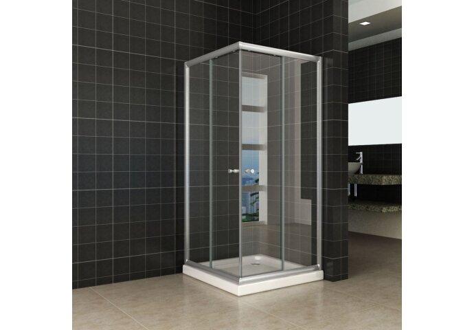 Douchecabine Wiesbaden Eco Hoekinstap 80x80x190cm 5mm Helder Glas