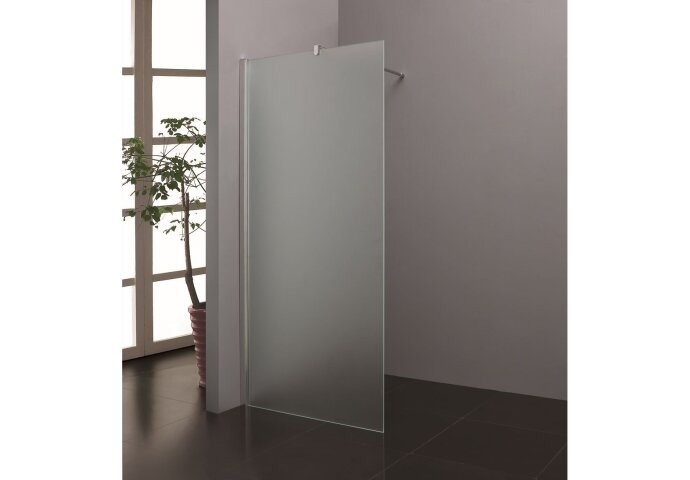 Inloopdouche Wiesbaden White Matglas 90x200cm 10mm