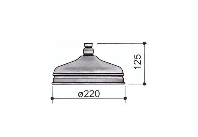 Regendouchekop Hotbath Amice Rond 22 cm Chroom