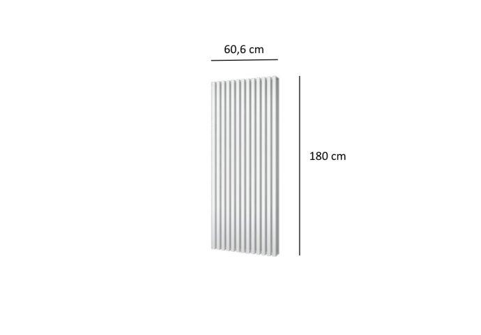 Designradiator Plieger Siena Dubbele Variant 2030 Watt Middenaansluiting 180x60,6 cm Wit