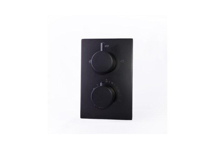 Douchekraan Inbouw Compleet Boss & Wessing Nero 20x13 cm Thermostatisch Mat Zwart