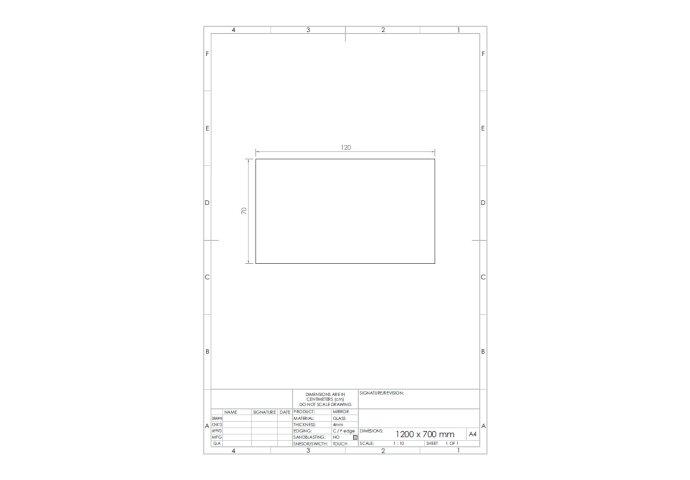 Spiegel Gliss Design Backlight LED Verlichting 120cm