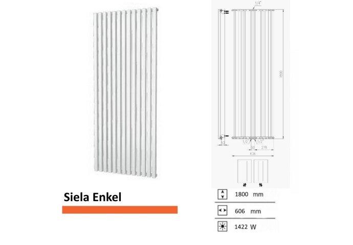 Handdoekradiator Boss & Wessing Siela Enkel 1800 x 606 mm | Tegeldepot.nl