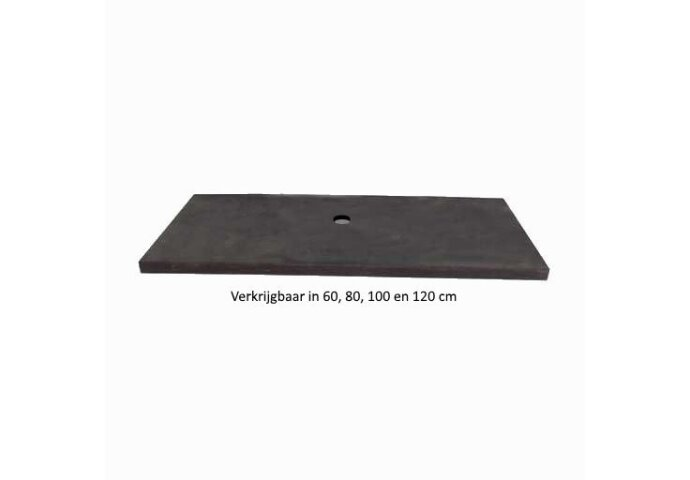 Wastafelblad Sanilux Nature Natuursteen met afvoergat 47cm diep (4 afmetingen)