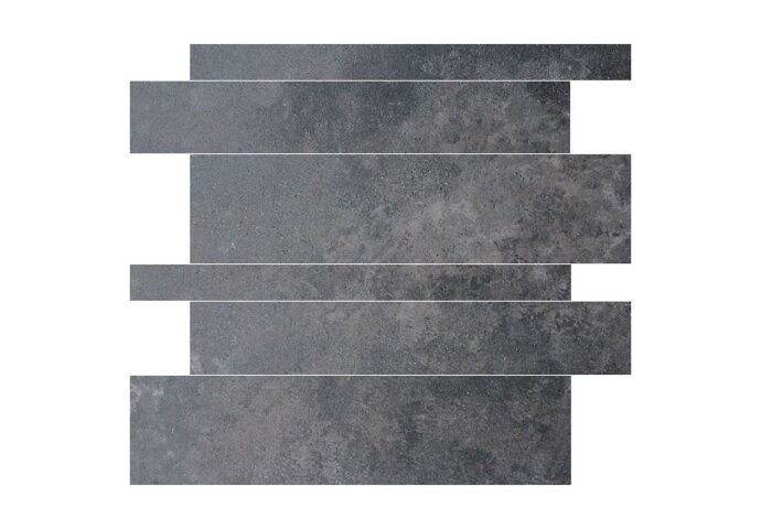 Wandtegels Gravel stroken Antraciet 5-10-15x60 rett (Doosinhoud 1,08 m²)