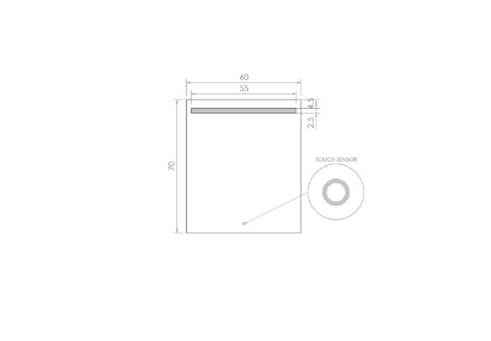 Badkamerspiegel LED BWS Spark 60x70 cm