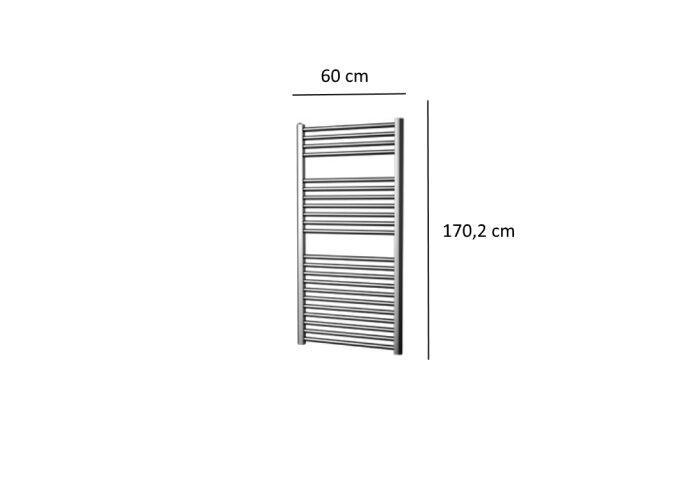 Designradiator Plieger Palermo 645 Watt Zijaansluiting 170,2x60 cm Chroom