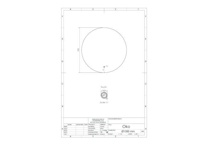 Spiegel Gliss Design Oko Rond LED Verlichting 100cm