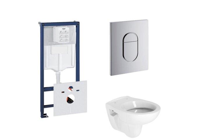Grohe Rapid SL Toiletset set02 B&W Compact met Grohe Arena of Skate drukplaat