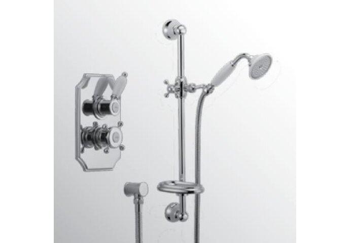 Huber Victorian Thermostatische Inbouw Doucheset Chroom/Goud 910.VT01H.CA